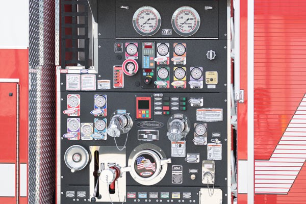 new 2017 fire engine sales in PA - pump panel detail
