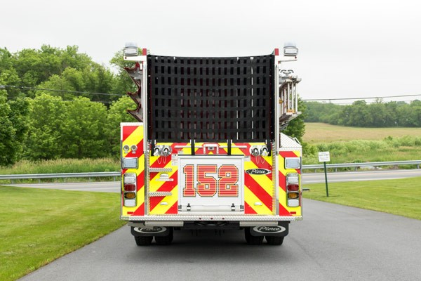 new fire engine sales in PA - 2017 Pierce enforcer pumper - rear