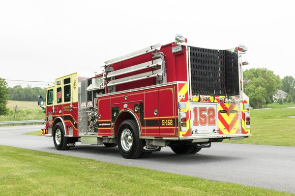 new fire engine sales in PA - 2017 Pierce enforcer pumper - driver rear