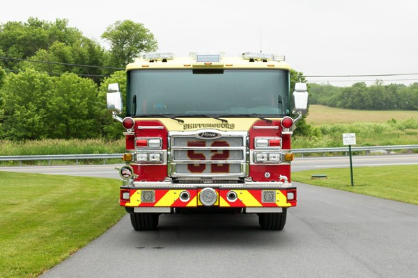new fire engine sales in PA - 2017 Pierce enforcer pumper - front