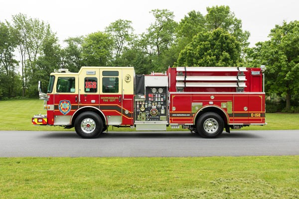 new fire engine sales in PA - 2017 Pierce enforcer pumper - driver side