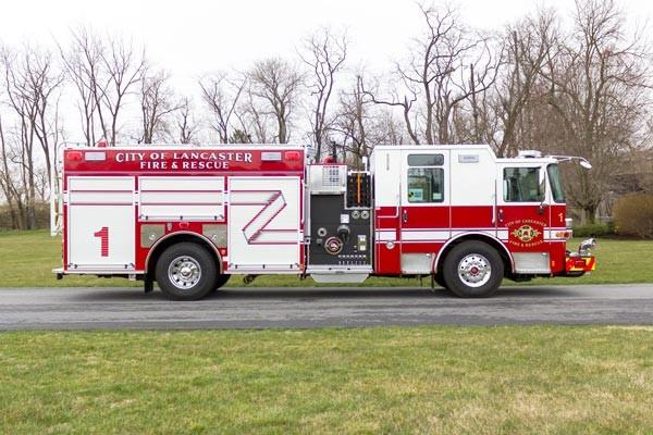 2017 Pierce Enforcer fire engine - passenger side