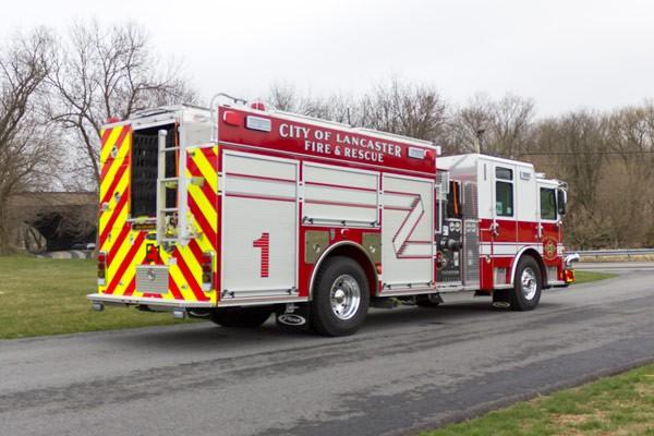 2017 Pierce Enforcer fire engine - passenger rear