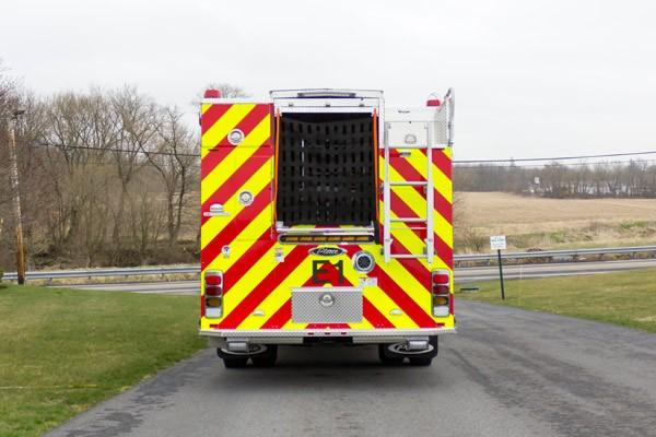 2017 Pierce Enforcer fire engine - rear