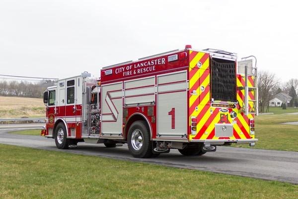 2017 Pierce Enforcer fire engine - driver rear