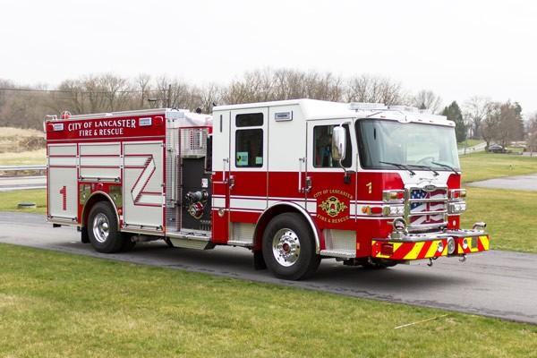 2017 Pierce Enforcer fire engine - passenger front