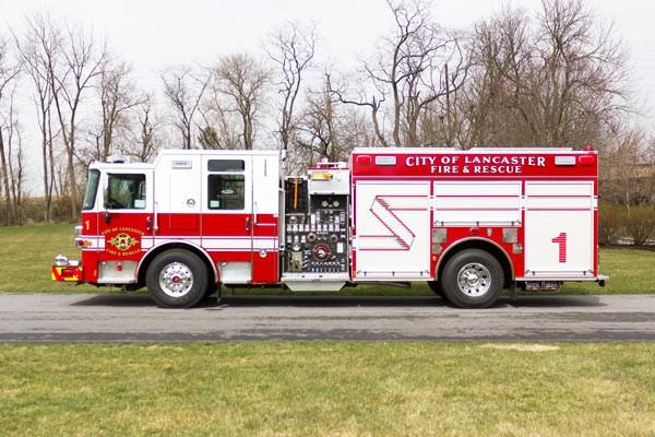 2017 Pierce Enforcer fire engine - driver side