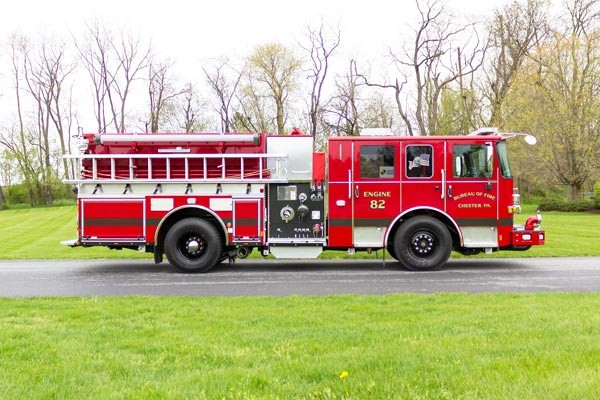 2017 Pierce Enforcer pumper - new fire engine - passenger side