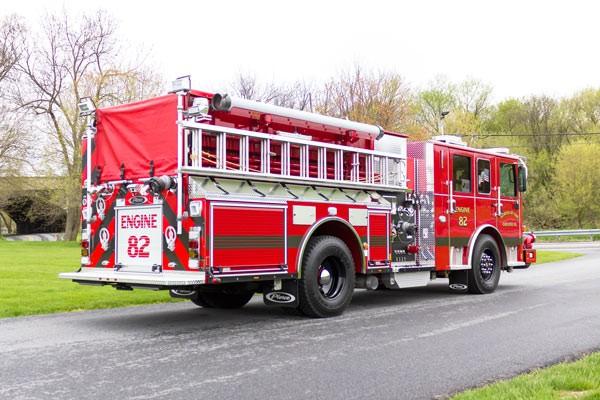 2017 Pierce Enforcer pumper - new fire engine - passenger rear