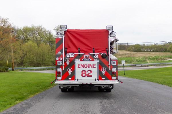2017 Pierce Enforcer pumper - new fire engine - rear