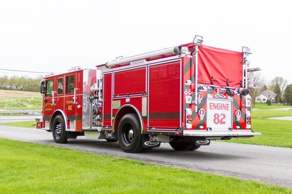 2017 Pierce Enforcer pumper - new fire engine - driver rear
