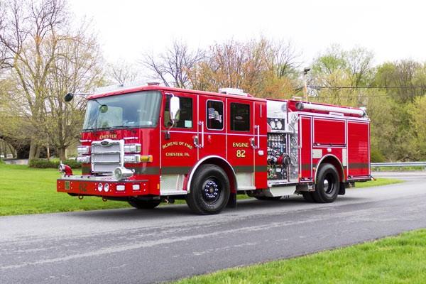 2017 Pierce Enforcer pumper - new fire engine - driver front
