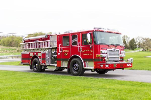 2017 Pierce Enforcer pumper - new fire engine - passenger front