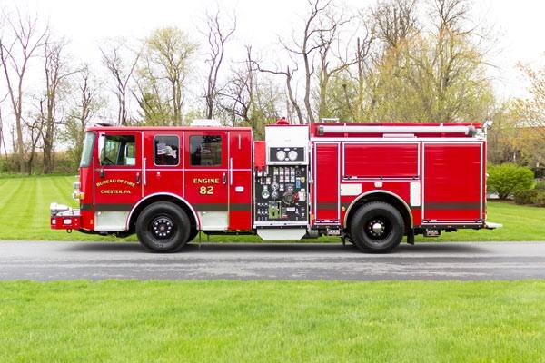 2017 Pierce Enforcer pumper - new fire engine - driver side