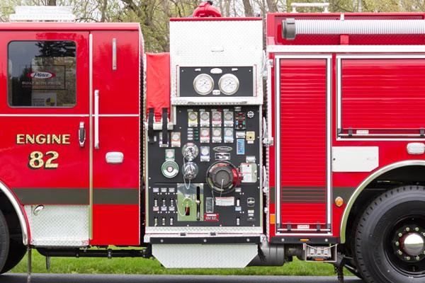 2017 Pierce Enforcer pumper - new fire engine - pump control panel