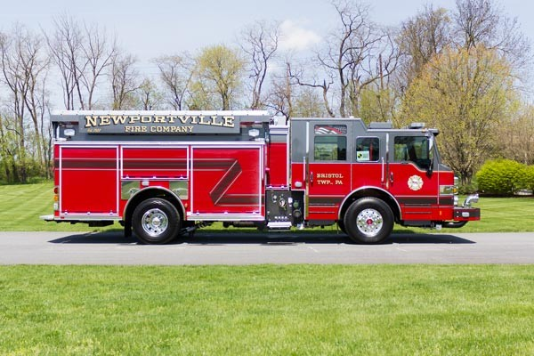 new 2017 Pierce Impel fire engine - pumper sales in PA - passenger side