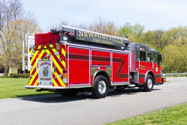new 2017 Pierce Impel fire engine - pumper sales in PA - passenger rear