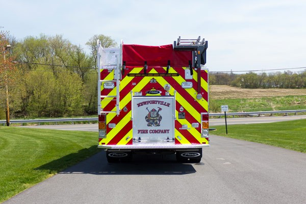 new 2017 Pierce Impel fire engine - pumper sales in PA - rear