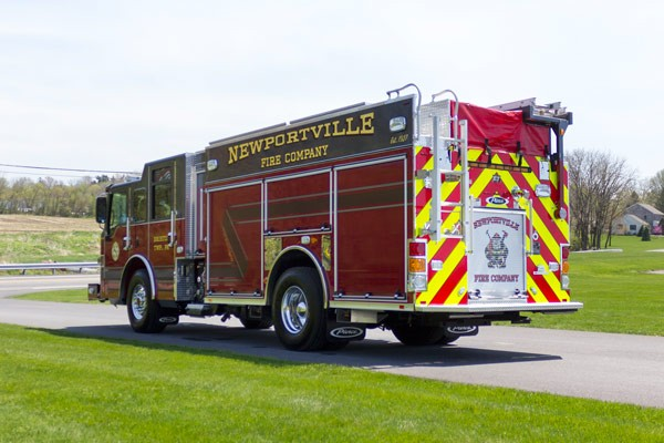 new 2017 Pierce Impel fire engine - pumper sales in PA - driver rear