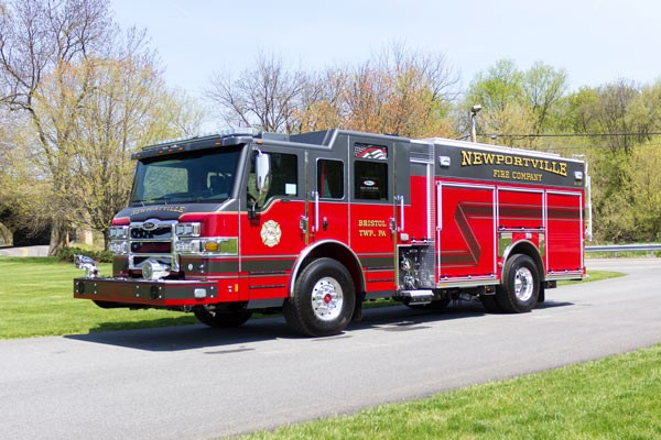 new 2017 Pierce Impel fire engine - pumper sales in PA - driver front