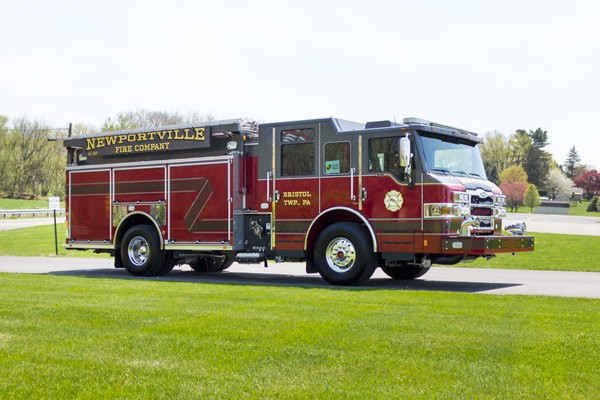 new 2017 Pierce Impel fire engine - pumper sales in PA - passenger front