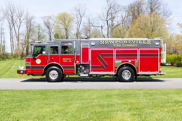 new 2017 Pierce Impel fire engine - pumper sales in PA - driver side