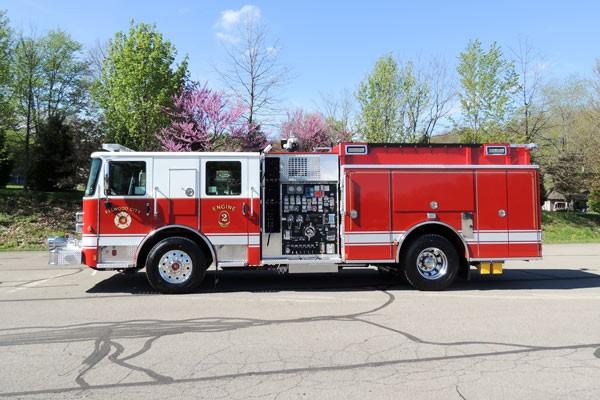 new 2017 Pierce Enforcer pumper - Pennsylvania new fire engine sales - driver side