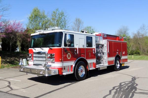 new 2017 Pierce Enforcer pumper - Pennsylvania new fire engine sales - driver front