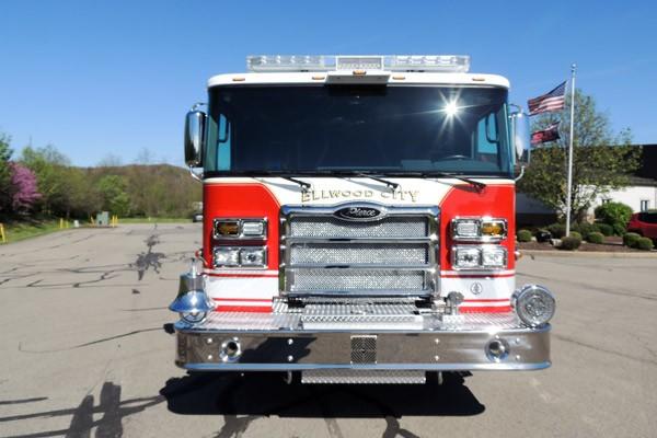 new 2017 Pierce Enforcer pumper - Pennsylvania new fire engine sales - front