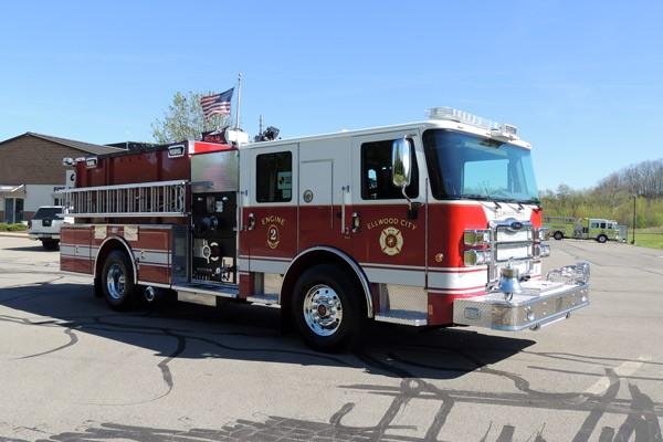 new 2017 Pierce Enforcer pumper - Pennsylvania new fire engine sales - passenger front