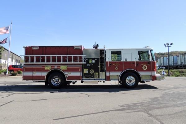 new 2017 Pierce Enforcer pumper - Pennsylvania new fire engine sales - passenger side