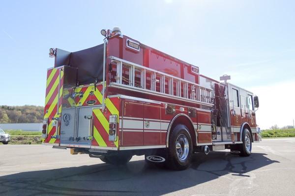 new 2017 Pierce Enforcer pumper - Pennsylvania new fire engine sales - passenger rear
