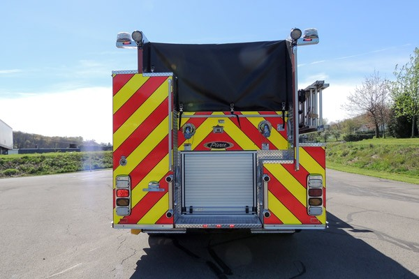 new 2017 Pierce Enforcer pumper - Pennsylvania new fire engine sales - rear
