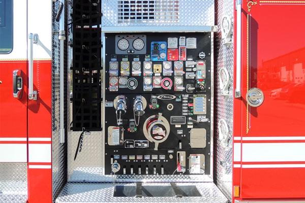 new 2017 Pierce Enforcer pumper - Pennsylvania new fire engine sales - pump panel detail