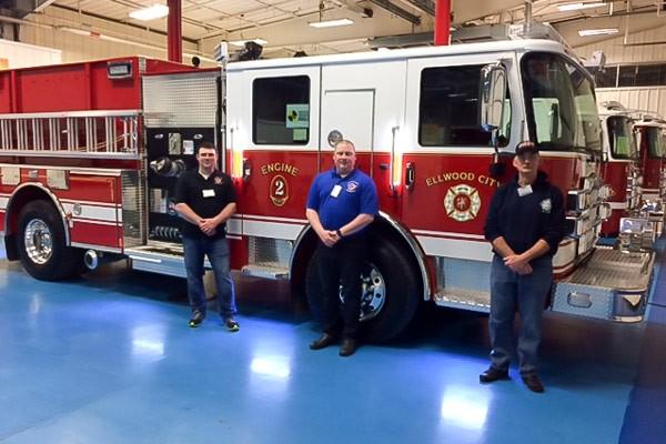 new 2017 Pierce Enforcer pumper - Pennsylvania new fire engine sales - final inspection at Pierce