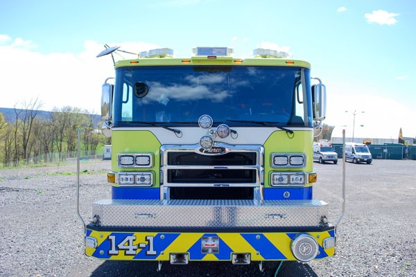 2017 Pierce Enforcer pumper - front