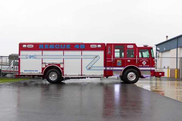 2017 Pierce Enforcer non walk-in heavy rescue - passenger side