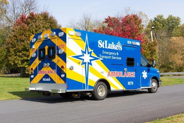 passenger rear view 2016 Braun Chief XL Type III ambulance