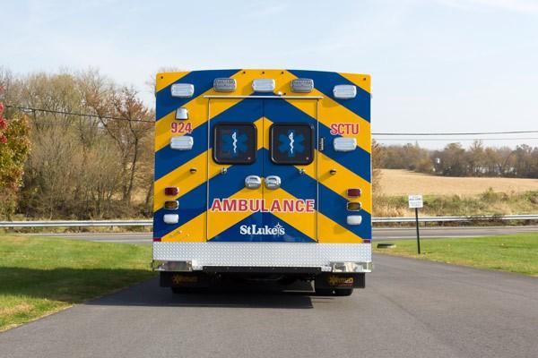 rear view 2016 Braun Chief XL Type III ambulance