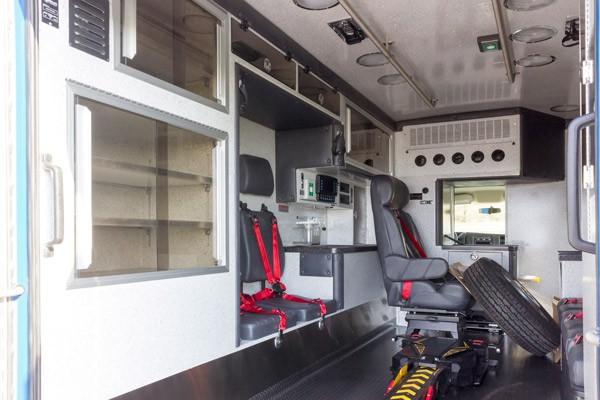 patient module driver side view 2016 Braun Chief XL Type III ambulance