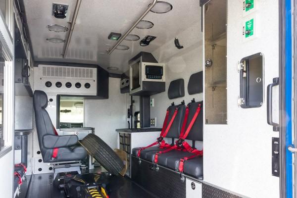 patient module passenger side view 2016 Braun Chief XL Type III ambulance