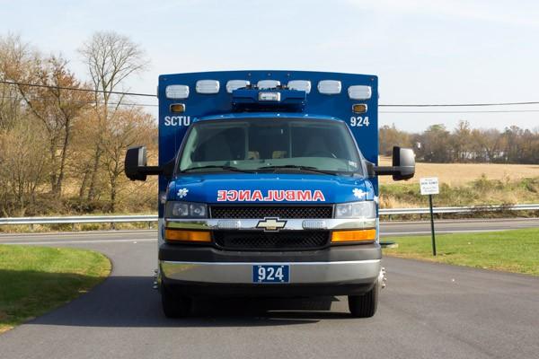 front view 2016 Braun Chief XL Type III ambulance