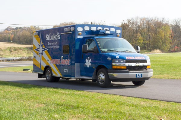 passenger front view 2016 Braun Chief XL Type III ambulance