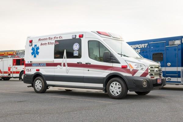 passenger front view 2017 Demers Transit Type II ambulance