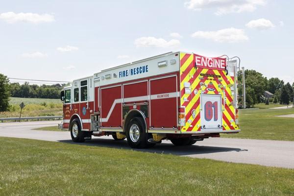 driver rear view new 2017 Pierce Enforcer PUC pumper