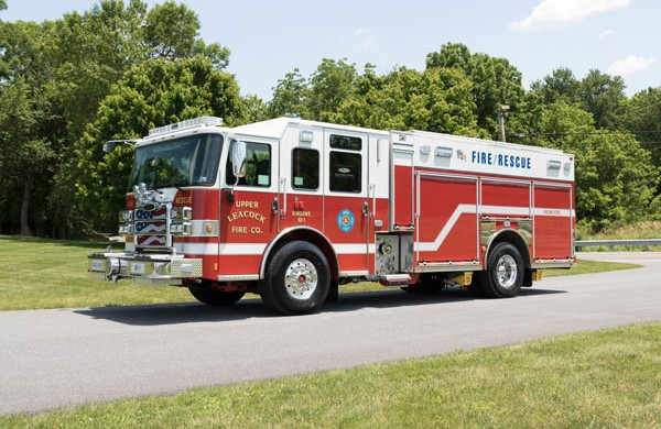 driver front view new 2017 Pierce Enforcer PUC pumper