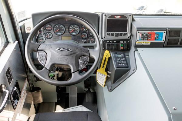 driver cab interior view new 2017 Pierce Enforcer PUC pumper