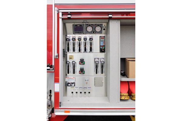 pump control panel view new 2017 Pierce Enforcer PUC pumper