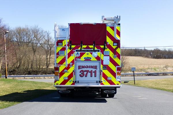 rear view 2017 Pierce PUC rescue pumper