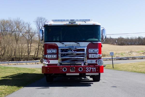 front view 2017 Pierce PUC rescue pumper